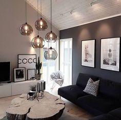 Living Room Decor Cozy, Living Room Interior, Apartment Interior, Decor Room, Cozy Room, Black And White Living Room Decor, Nordic Living Room, Apartment Chic, Living Room Lighting
