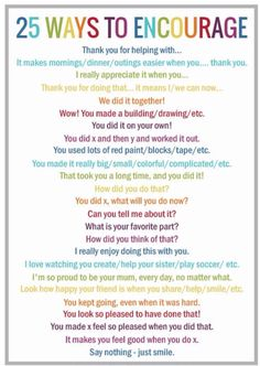 "How do you give praise and encouragement to your children? Try these 25 alternatives to 'Good Job"" and print this poster as a nice reminder. Read more at http://picklebums.com/2014/07/10/25-alternatives-good-job/#_a5y_p=1988222"