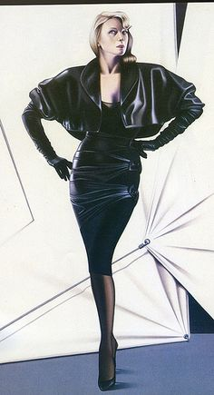 Illustration by Jerard Failly for Azzedin Alaïa fall winter 1984.