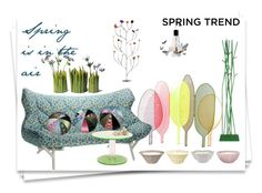 spring is in the air by golden-eclipse on Polyvore featuring polyvore, interior, interiors, interior design, home, home decor, interior decorating and Ingo Maurer