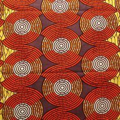 Ankara fabric, African Print fabric, Orange Yellow and Brown African Wax Print, Ankara Print by the Yard, Colourful Ankara, Multicoloured