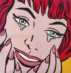 [명화 Reproduction] 로이 리히텐슈타인 - 행복한 눈물[Happy tears] - 큐알아트 - 미술품판매의 새로운 공간