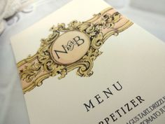 MENU CARDS  Ideal for Weddings Rehersal Dinners di SweetPeaSunday