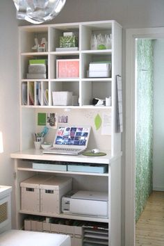 Wall desk and shelves