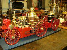 old fire engines   ... LaFrance Double Pump Model Fire Engine Vintage Model Fire Truck   eBay