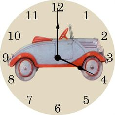 Love this vintage car clock for a little boy's nursery or bedroom!