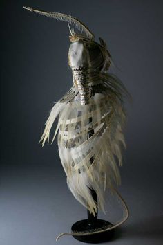 """Anna Cocciadiferro ~ """"One Hundred Braids For One Hundred Brushes For The Ostrich Bride"""" Hybrid 