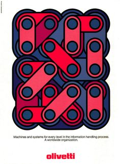 Olivetti advertisement, 1973, from theinside flap of Graphis Annual 73/74.