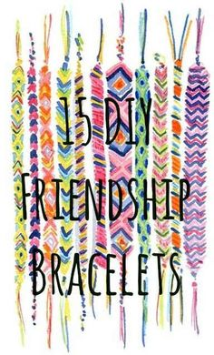 15 Summer Style Friendship Bracelets You Can Make Right Now -This is an awesome pin for people who are both new to making friendship bracelets and who already know the basics.