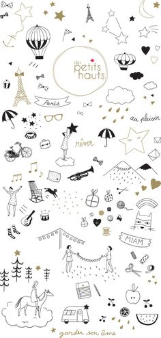 You need them for any banner or simple doodles Des Petits Hauts papier peint : marie caulliez Doodle Drawings, Doodle Art, Cute Drawings, Doodles, How To Draw Hands, Illustration Art, Drawing Tutorials, Clip Art, Prints