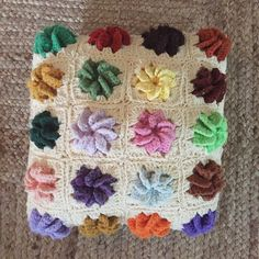 Afghan Crocheted Throw Pillow