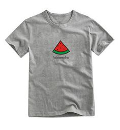 Mirine Unisex Cute Watermelon Icon Printing Graphic Cotton T Shirt 4 Colors | eBay
