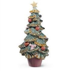 Lladro Porcelain Figurine Christmas Tree