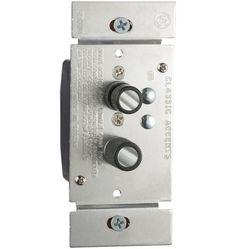Trimmed Push-Button Dimmer Switch  600W C0032. Rejuvenation. c. $49 + $20 ish. diff colors.