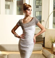 lovely dress - asymetric neckline