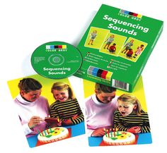 $65.00 Sequencing Sounds - ColorCards: Contains the individual sounds of fourteen two-step sequences and four three-step sequences, providing forty sounds in total. New cards and sounds include: coming home, and woodwork.