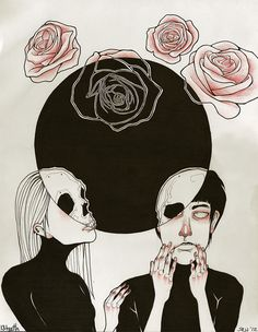 Lovers & Liars: Ink and prismacolor