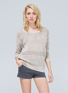 WILFRED BALZAC SWEATER - Pretty pointelle sweetens a luxe yet laidback sweater