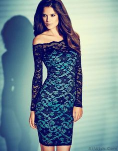 Wow~ Awesome Sexy Boat Neck Lace Strapless Dress! It only $29.99 at www.AtWish.com! I like it so much<3<3!