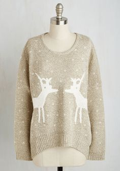 Know All the Antlers Sweater, #ModCloth - I mean it's that time of year when you are looking for that perfect weird holidayish sweater how about this one?