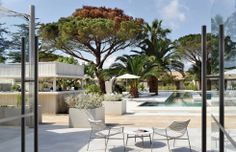 Hotel Sezz Saint-Tropez 5-star luxury boutique hotel with contemporary design. Indoors & outdoors #hotelfurniture #contractfurniture #outdoordesign #outdoorfurniture #furniture