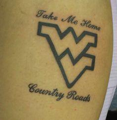 West virginia on pinterest west virginia university for Wv tattoos designs