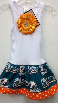 miami dolphins pillowcase dress available 0-3 months through size