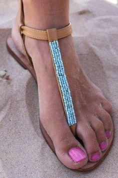 Sandles & Pink Toes