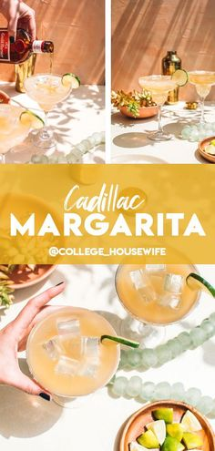 This classic Cadillac Margarita features top-shelf reposado tequila, fresh lime juice, sweet agave and a special Grand Marnier floater for restaurant-quality margaritas every time. It's a tart, sweet and refreshing margarita recipe finished with a salt rim best served as the ultimate cocktail drink to enjoy with the girls - and guys! #drinks #cocktailrecipes #margarita #topshelf #tequila Refreshing Summer Cocktails, Spring Cocktails, Vodka Cocktails, Classic Cocktails, Best Cadillac Margarita Recipe, Margarita Recipes, Sour Cocktail, Cocktail Drinks, Cocktail Recipes