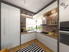 Pequena Cozinha Super Bem Planejada: Muito Delicada E Natural