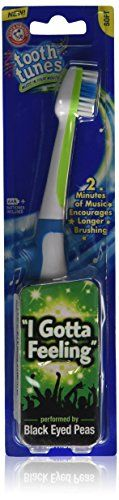 #topseller #Tooth Tunes Electric Brush: Black Eyed Peas-I Gotta Feeling. This amazing brush plays 2 minutes of your favorite song while you clean your teeth. If ...