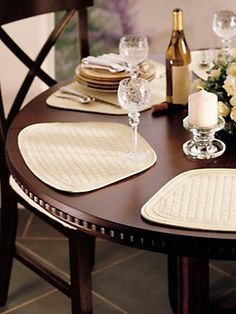 Round Table Placemats Wedge Shape Mats Solutions