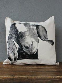 redinfred green acres goat pillow