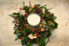 Christmas wreath table centre.