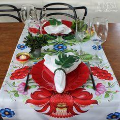 christmas table setting - tropical