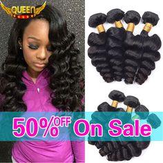 Brazilian Virgin Hair Loose Wave 4 Bundles 7A Unprocessed Virgin Human Hair Loose curly Brazilian Loose Wave Virgin Hair Bundles - http://mixre.com/brazilian-virgin-hair-loose-wave-4-bundles-7a-unprocessed-virgin-human-hair-loose-curly-brazilian-loose-wave-virgin-hair-bundles/ #HairWeaving