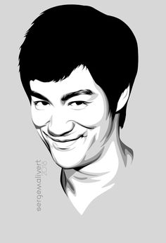 DeviantArt is the world's largest online social community for artists and art enthusiasts, allowing people to connect through the creation and sharing of art. Vector Portrait, Digital Portrait, Portrait Art, Bruce Lee Pictures, Bruce Lee Art, Digital Painting Tutorials, Cool Art Drawings, Portrait Illustration, Watercolor Portraits