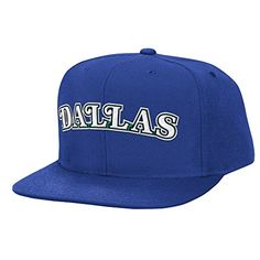 NBA Mitchell  Ness Team Logo Solid Wool Hardwood Classics Adjustable Snapback Hat Dallas Mavericks -- Continue to the product at the image link.