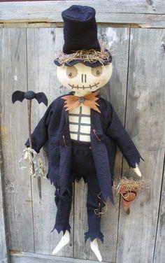 Bones Skeleton Man for Halloween E PATTERN by cheswickcompany