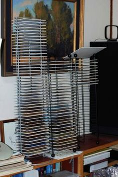 Save Studio Space! How to Make Your Own Painting Racks