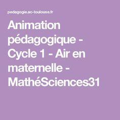 Animation pédagogique - Cycle 1 - Air en maternelle - MathéSciences31