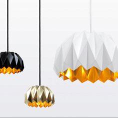 Golden inside - origami lamp