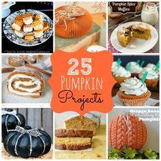 25 Imaginative and Delicious Pumpkin Projects to make for Fall!