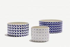 ceramics. {with blue porcelaine pen. dots.}