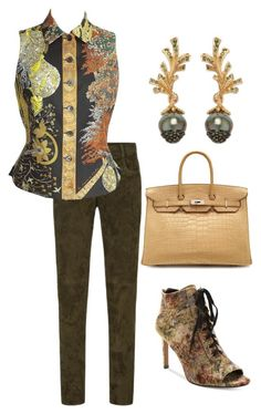 """""""Vintage"""" by easy-dressing ❤ liked on Polyvore featuring Amanda Wakeley, Hermès, Heting, Nanette Lepore and vintage"""