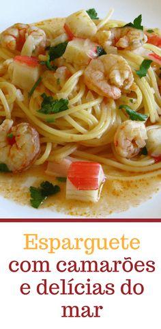 Esparguete com camarões e delícias do mar | Food From Portugal