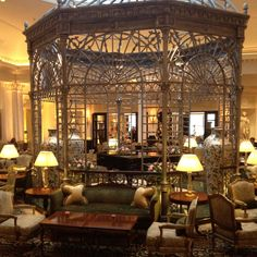 Tea room at the Savoy in London