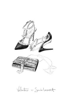 Valentino and Saint Laurent illustration by Kelly Smith