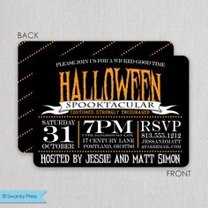 Spooktacular Halloween Invitations | Swanky Press - Halloween party