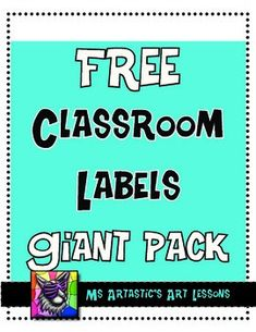 """Get (and keep) your classroom organized with these trendy, cool classroom labels! No clip art on them, just a great font, cool colors and great taste. These are great for all ages because there is no """"cute"""" clip art on them so you are free to use them in a primary classroom or middle and secondary school classroom."""